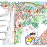 映画オンリー・ユー♡白い壁に色鮮やかな花々に心はずむ